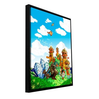 Luis Peres 'School Day' Floater-framed Gallery-wrapped Canvas