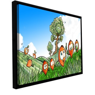 Luis Peres 'Seeds 1' Floater-framed Gallery-wrapped Canvas