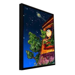 Luis Peres 'UFO Kid 1' Floater-framed Gallery-wrapped Canvas