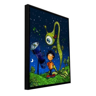Luis Peres 'UFO Kid 2' Floater-framed Gallery-wrapped Canvas