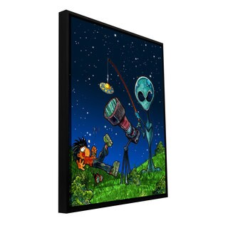 Luis Peres 'UFO Kid 3' Floater-framed Gallery-wrapped Canvas