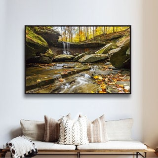 Cody York 'Blue Hen Falls 3' Floater-framed Gallery-wrapped Canvas