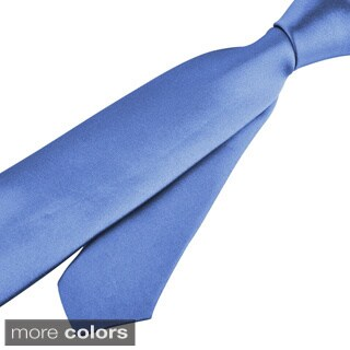 Zodaca Colorful Men Polyester Silk Thin Slim Necktie (5 options available)