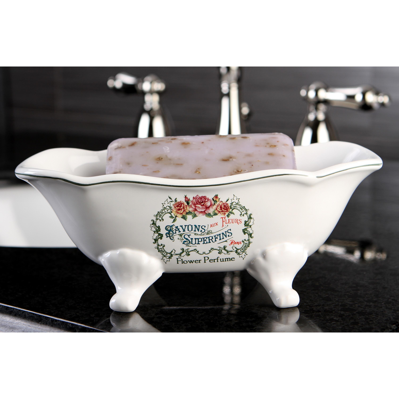 Savons Aux Fleurs Wave Double Ended Clawfoot Tub Soap Dish