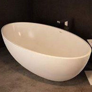 Atlantis Whirlpools Marquis 37 x 67 Artificial Stone Freestanding Bathtub in White