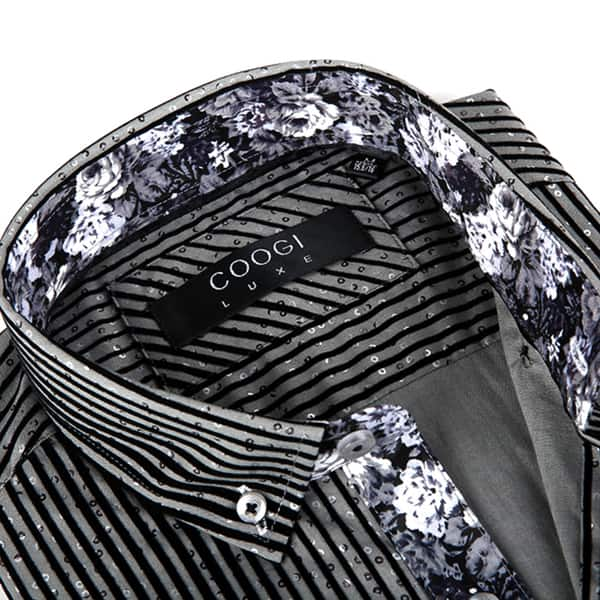 Shop Coogi Luxe Men\'s Black and Grey Speckled Button-down ...
