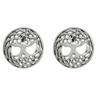 Carolina Glamour Collection Sterling Silver Celtic Tree Of Life Stud Earrings