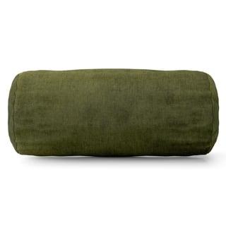 Villa Collection Microvelvet Round Bolster Pillow|https://ak1.ostkcdn.com/images/products/9551278/P16732086.jpg?impolicy=medium