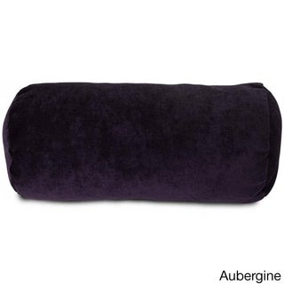 Villa Collection Microvelvet Round Bolster Pillow (More options available)