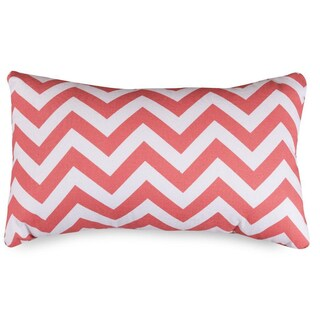Chevron Pattern 12 x 20-inch Accent Pillow (Option: Coral)