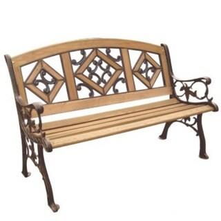 Florence Wood Inlay Park Bench