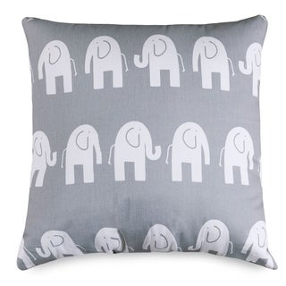 Ellie Elephant Pattern 24 x 24-inch Extra Large Pillow