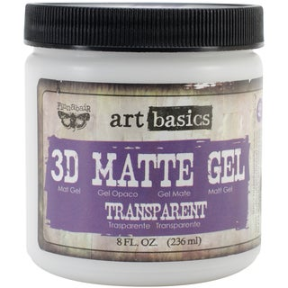 Art Basics 3D Matte Gel 8oz-Transparent