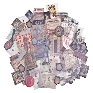 Tim Holtz Idea-Ology Vellum Ephemera 54/Pkg-Vellum Thrift Shop