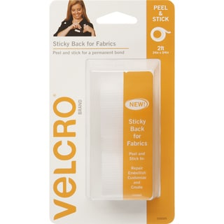 """VELCRO(R) Brand STICKY BACK For Fabric Tape .75""""X24""""-White"""