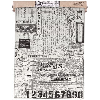"Tim Holtz Idea-Ology Tissue Wrap 12""X 15'-Postale"