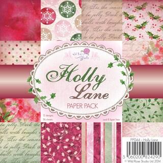 """Wild Rose Studio Ltd. Paper Pack 6""""X6"""" 36/Pkg-Holly Lane"""