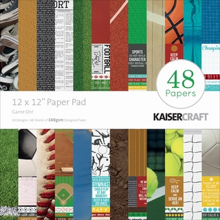 "Kaisercraft Paper Pad 12""X12"" 48/Pkg-Game On!"