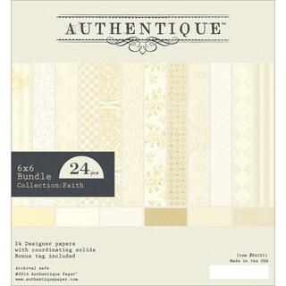 """Authentique Bundle Cardstock Pad 6""""X6"""" 24/Pkg-Faith"""