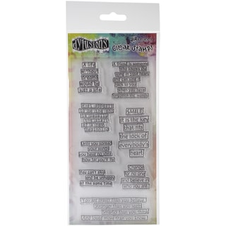 "Dyan Reaveley's Dylusions Clear Stamps 4""X8""-Clearly The Right Words"