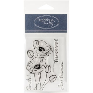 """Technique Tuesday Clear Stamps 3""""X4""""-Budding Poppies"""