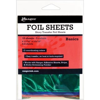 Ranger Shiny Transfer Foil Sheets 10/Pkg-Basics