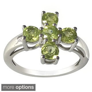 Sterling Silver Multi-choice Gemstone Five-stone Ring