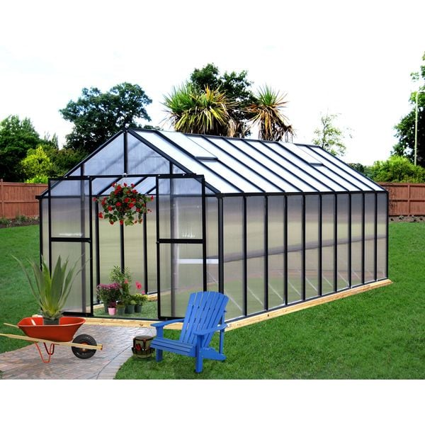 Monticello 8x20 Black Greenhouse Free Shipping Today