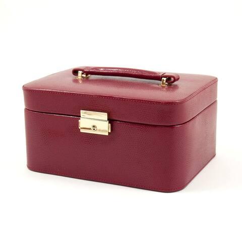 Bey Berk 'Leah' Leather Jewelry Box