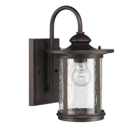 Rubbed Bronze 1-light Outdoor Wall Light