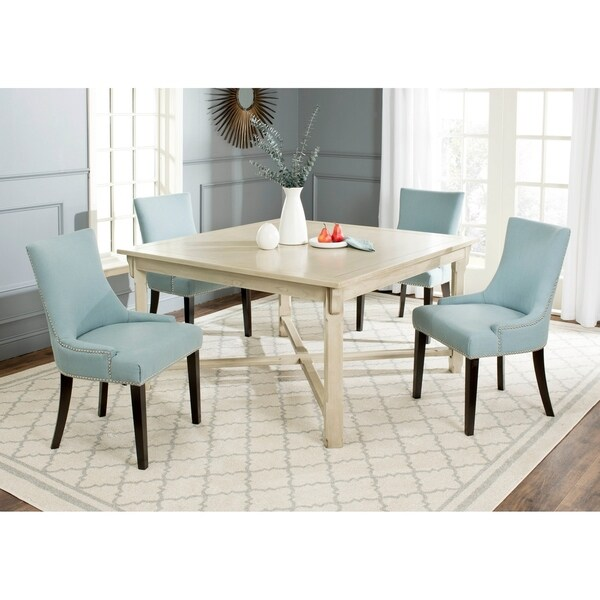 Safavieh Bleeker White Washed Dining Table - 0. Opens flyout.