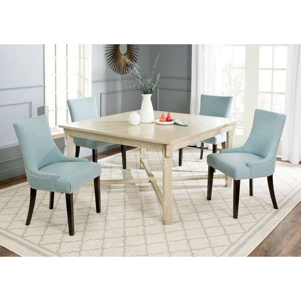 safavieh bleeker white washed dining table - free shipping today