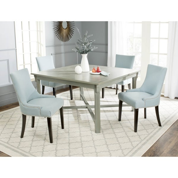 Safavieh bleeker ash grey dining table free shipping for Dining room tables home goods