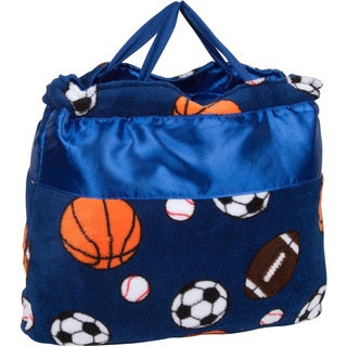 OC Daisy Sports Design Napbag Travel Blanket and Pillow Set