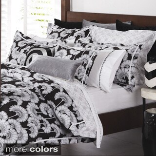 Floral Sateen Cotton Euro Sham (2 options available)