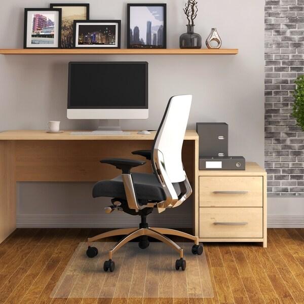 Shop Cleartex Rectangular Pvc Chairmat For Hard Floor