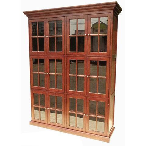 D-Art Collection 12 Door Library Curio Bookcase