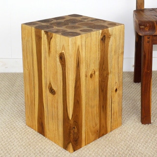 Handmade 12 x 18 Walnut Oiled Hollow Teak Block (Thailand)