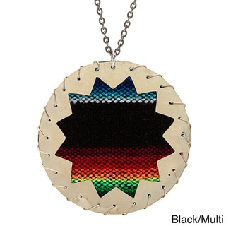 Zaria Recycled Silver Metal and Colorful Repurposed Aguayo Necklace (Bolivia)