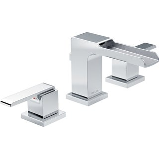 Delta 3568LF-MPU Two-handle Widespread Lavatory Faucet with Channel Spout