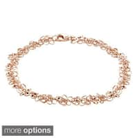 Mondevio 14k Rose or White Gold 4mm Rolo Chain