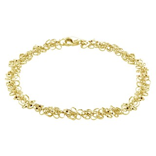 Mondevio 14k Gold 6.5MM Rolo Chain Necklace (2 options available)