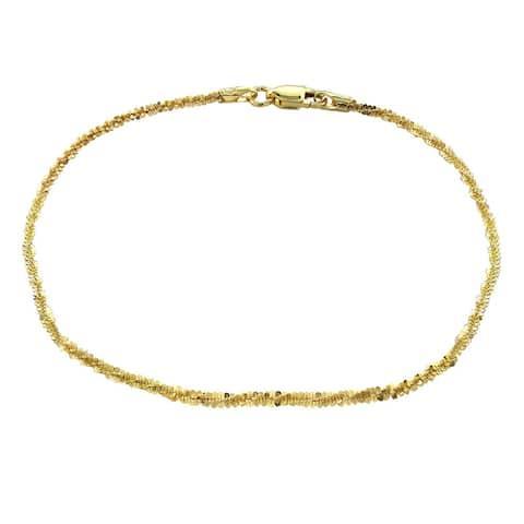 Mondevio 14k Yellow Gold 1.6mm Diamond Cut Rope Chain