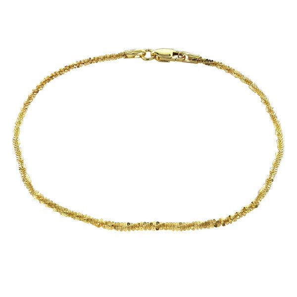 3eb0fb42c22a1 Shop Mondevio 14k Yellow Gold 1.6mm Diamond Cut Rope Chain - On Sale ...