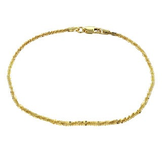 Mondevio 14k Yellow Gold 1.6mm Diamond Cut Rope Chain