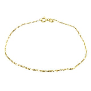 Mondevio 14k Yellow Gold 1mm Figaro Chain Necklace