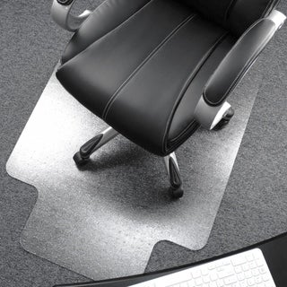 "Cleartex Ultimat Chair Mat Rectangular with Lip Clear Polycarbonate For Plush Pile Carpets (over 1/2"") Size 48"" x 53"""