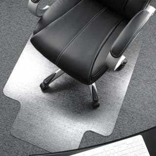Cleartex Lipped Polycarbonate Chairmat for Thick Carpet  Size 48 x 53