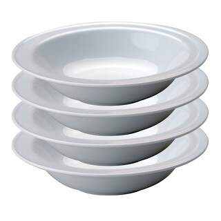 BergHOFF Hotel Line 6.25-inch White Fruit Dishes (Set of 4)  sc 1 st  Overstock : imperial hotel dinnerware - pezcame.com