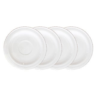 BergHOFF Hotel Line White 5-inch Saucers (Set of 4)